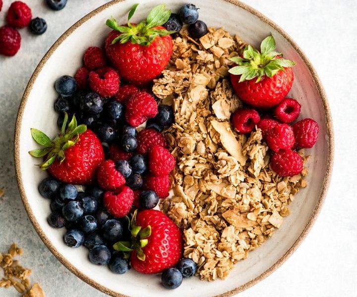 mix de granola para el desayuno